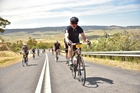 Michael Brown makes a painful ascent in the inaugural L'etape Australia. Photo / sportgray.com