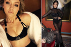 Gigi Hadid and Kourtney Kardashian are fond of high-waisted granny-style underwear. Photos / Instagram