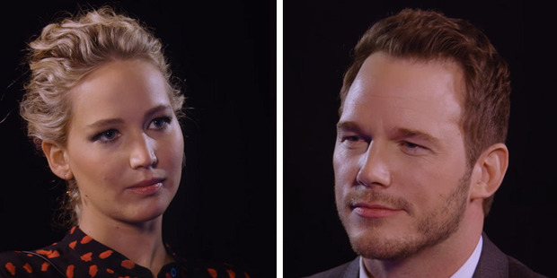 Jennifer Lawrence Completely Loses It After Chris Pratt's Amazing Sex Scene Insult
