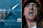 The National Party has flatly rejected the allegation it used Eminem's track from the Eight Mile film for its political ad. Photos / Supplied