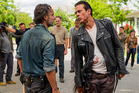 A scene from the mid-season finale from the television series, The Walking Dead. Photo / AMC