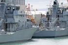 Navy Inshore Patrol Ships in dock at the Devonport Navy Base. Photo / Richard Robinson.