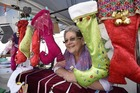 Christmas stockings maker Grace Chesterman said customers at the Little Big Markets had been loving them. Photo/George Noavk