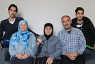 Mohamad Eid Morad (second from right) who is here with his wife Imane, his mother Gazala and sons Diaa, 20, and Ahmad, 16, says they feel for friends and family back in Syria. Photo / Supplied