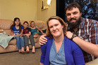 Sarah and Mike Louwrens with Judah, 2, Michal, 14, Kiel, 11, Elisha, 10, have moved to Mexico form Merivale. Photo/File