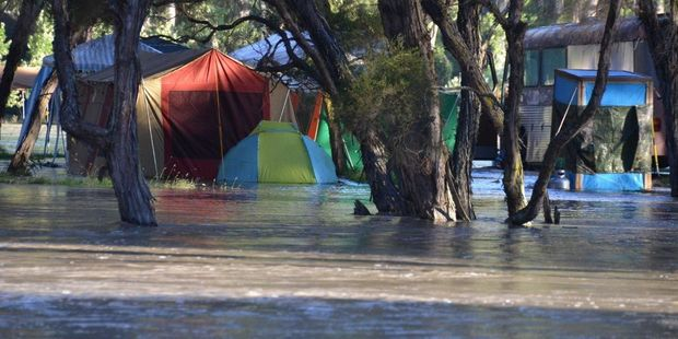 Campers at Morrison's Bush in the Wairarapa had a wet time in summer 2014. Photo / File