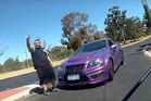 Just as the driver is heading back to his car, the cyclist tells him that whole confrontation has been caught on camera. Photo / Mark YouTube