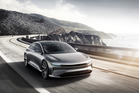 California-based Lucid Motors has unveiled the Air, a luxury electric sedan poised to challenge Tesla. Photo / Lucid Motors