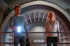 Chris Pratt and Jennifer Lawrence star in the sci-fi movie, Passengers.