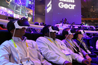 Attendees at the Samsung booth during last year's CES show in Las Vegas. Photo / Chris Farina