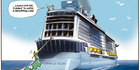 View: Cartoon: Giant ship berths in Auckland