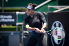 Tennis star Serena Williams training at the ASB Tennis Centre. 30 December 2016 New Zealand Herald Photograph by Dean Purcell.