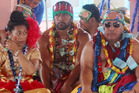 All Black Patrick Tuipulotu has been given the chiefly title of Sa'u at a ceremony in the village of Apolima. Photo / Samoa Observer