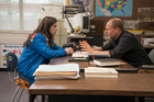 Hailee Steinfeld, left, and Woody Harrelson in a scene from The Edge of Seventeen. Photo/Supplied