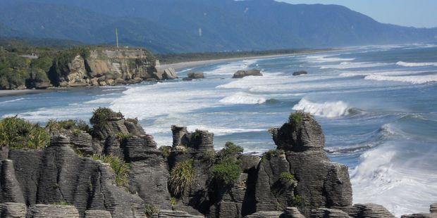 Pancake rocks on the West Coast of the South Island. Photo / Supplied