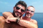 Fadi Fawaz and George Michael were to have spent Christmas together. Photo / Twitter