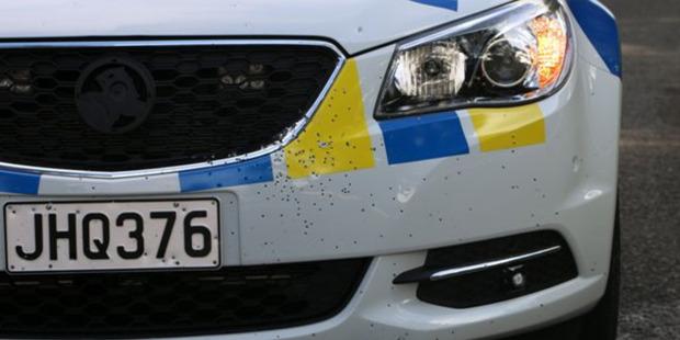 Shots were fired at a patrol vehicle in Manurewa. Photo / Supplied