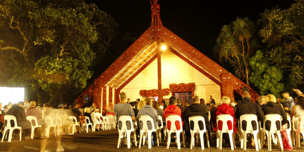 Dawn service at the Waitangi Treaty Grounds. Photo / Michael Craig