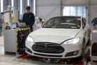 Tesla's Model X sedan. Photo / Bloomberg