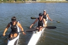 Farren McGregor-Smyth (left) Hamish Legarth and Edward Parsons will represent the New Zealand U18s at next week's Oceania Canoe Sprint Championship in Adelaide. PHOTO/SUPPLIED