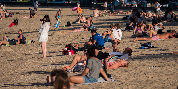People have been flocking to the beach in recent weeks. Photo / Steven McNicholl