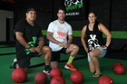 SERVICE: Effecting social change are Patu Gym trainer Newton Watene (left), director Levi Armstrong and administrator Kia Diamond. PHOTOS/DUNCAN BROWN