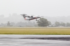 A Jetstar plane taking off from Hawke's Bay Airport. More flights are credited with increasing passenger numbers.