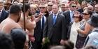 WELCOME - OR NOT? Prime Minister John Key arrives at Te Tii marae ahead of Waitangi Day celebrations last year.