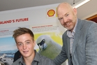 YOUNG ACHIEVER: Scholarship winner Ryan Gywnn with Shell New Zealand chairman Rob Jager.PHOTO/SUPPLIED