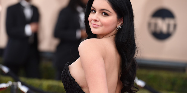 Ariel Winter arrives at the 22nd annual Screen Actors Guild Awards at the Shrine Auditorium in Los Angeles. Photo/AP