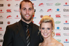 Simon Mannering's partner Anna Bensemann gave birth to the couple's second son on Wednesday. Photo / Norrie Montgomery