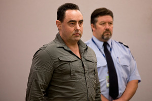 Phillip Musson being sentenced at the Auckland District Court on a raft of drugs charges in 2014. Photo / Dean Purcell