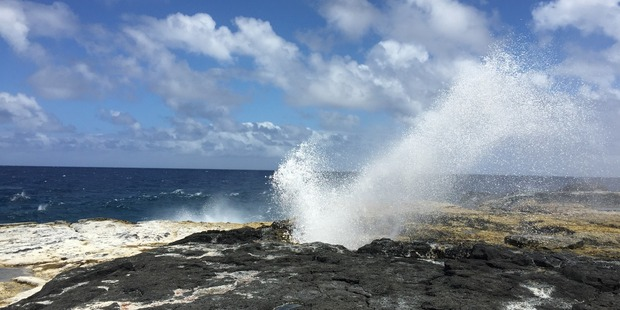 To witness the power of nature at work head to the Alofaaga Blowholes.