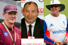 Wayne Bennett, Eddie Jones and Trevor Bayliss - three Australians who now coach England national teams. Photos / Getty Images / AP