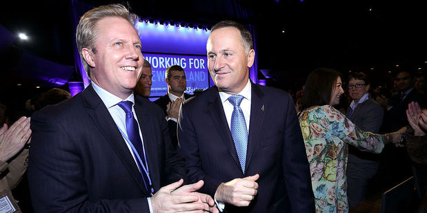 Trade Minister Todd McClay and Prime Minister John Key. Photo / Getty Images
