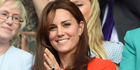 Catherine, Duchess of Cambridge at Wimbledon in London. Photo / Getty Images