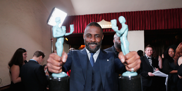 Idris Elba won outstanding performance by a male actor in a supporting role and outstanding performance by a male actor in a television movie or miniseries. Photo / Getty