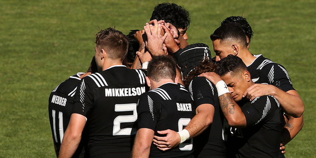 New Zealand have won all five of their matches at the Wellington Sevens this weekend. Photo / Getty