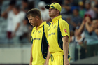 Steven Smith, right, and Australia have been deficient in their last couple of trips to Eden Park. Photo / Getty