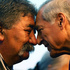 Heraldo Munoz (R), Minster of Foriegn Affairs from Chile, is welcomed by a local Maori elder. Photo / Getty Images