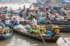 Agricultural floating market in Phong Dien Can Tho, Vietnam. Photo / Getty