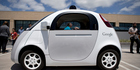The two-seater prototype of Google's self-driving car. Photo / Getty Images