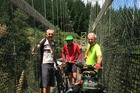 Phil Shoemack, Nick Roozenburg, Bruce Galloway on the Waikato River Trail. Photo/Supplied