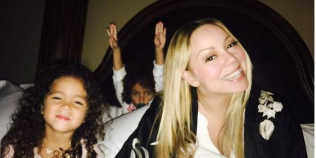 Singer Mariah Carey is keeping a big piece of news from her children Monroe and Moroccan. Photo / Instagram