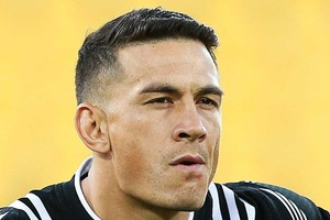 Sonny Bill Williams ended up celebrating a victorious debut for the All Blacks sevens. Photo / Getty Images.