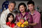 Vincent and Karen Wong with their two children Chloe and Matthew. Photo / Brett Phibbs