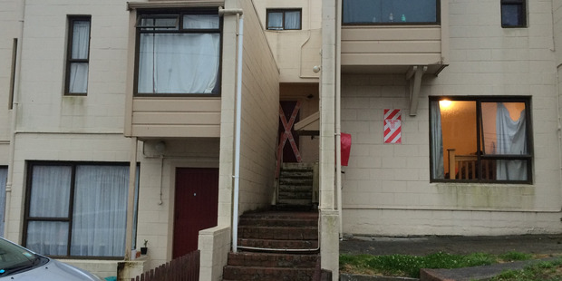 The exterior view of an apartment in Constable St in Newtown, Wellington where a body was found. Photo / uSpplied via Newstalk ZB from Joshua Price