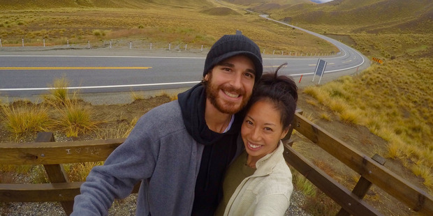 American travellers David DiMichele and his wife Amber who say their holiday in NZ has been ruined after their campervan broke down in Tekapo. Photo / Supplied