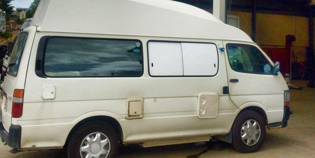 The campervan they rented. Photo / Supplied