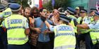 View: TPP protesters block Auckland